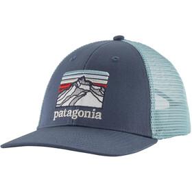 Patagonia Line Logo Ridge LoPro Casquette Trucker, dolomite blue